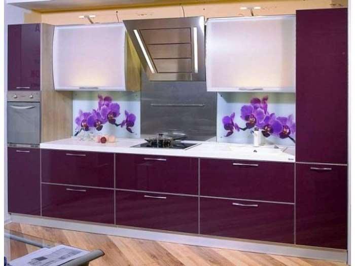 Дизайн кухонных стеклянных фартуков