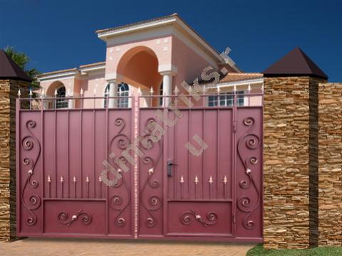 типовые кованые ворота