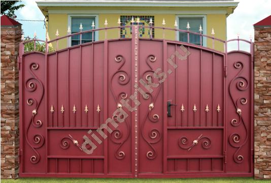 Метки ворота с коваными источник